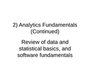 2) Analytics Fundamentals(Continued)_4Sp15_