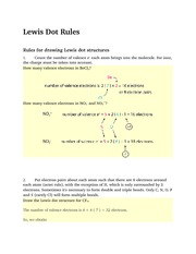 Lewis Dot Rules