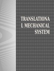 TRANSLATIONAL MECHANICAL SYSTEM.pptx
