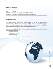 Blue Waves and Globe Memo Template