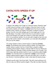Catalysts Speed It Up