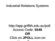 Industrial Relations Systems(1)