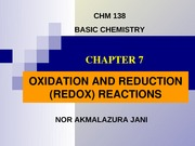 chapter 7-oxidation and reduction reactions dec 2013