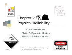 Chapter 7 Part I Physical Reliability