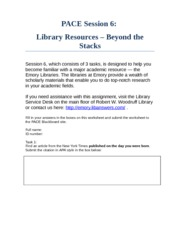 PACE_2013_Session_6_Library_Resources