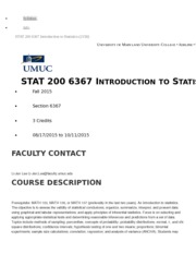 UMUC Stat 200 Syllabus Fall 2015 Li-Jen Lee