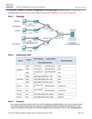 9.4.1.2 Packet Tracer - Skills Integration Challenge Instructions IG