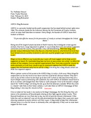 Taylor Newnams Blog Evaluation reviewed by Marie Garavaglia- ASPCA