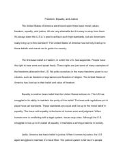 Freedom, Equality, and Justice Essay.pdf