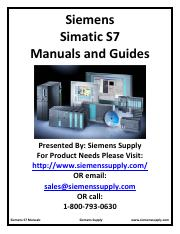 Siemens Symatic S7 Manuals&Guide
