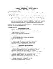 Syllabus - Math 2620 & 5620 - Fall 2011