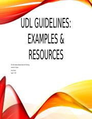 UDL Guidelines week 4 discussion 1.pptx
