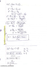 Notes on the Quadratic Equation, Distance, and Midpoint Formulas