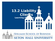 Lesson 13.2 Liability to Clients