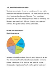 The Wellness Continuum Notes