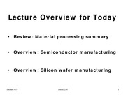 P19 Semiconductor Manufacturing overview