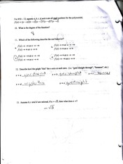 Degree of Functions Notes