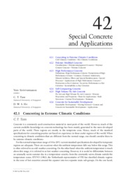 Special Concrete and Applications