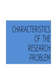 CHARACTERISTICS OF THE RESEARCH PROBLEM.pdf