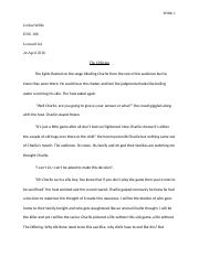 Jordan Wilde Short Story Final Draft with Reflection.docx