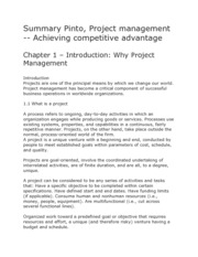 127715285-Summary-Pinto-Project-management-Achieving-competitive-advantage
