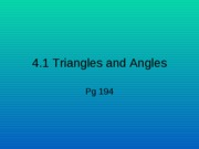 4.1Triangles & Angles