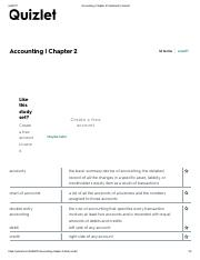 accounting chapter 4 flashcards quizletpdf quizlet