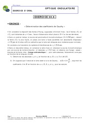 30.06 - Détermination des coefficients de Cauchy