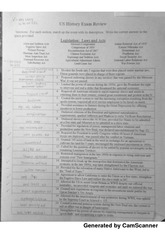 US History - Legislative Laws And Acts