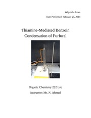 Thiamine-Mediated Benzoin organic 2 lab