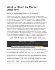 market efficiency.docx