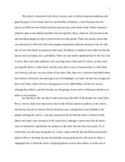 Tyler Perry essay