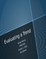 Individual Evaluating a Trend WK6