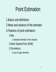 1.1.Point Estimation