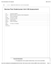 HazMat Waste Unit VII Assessment