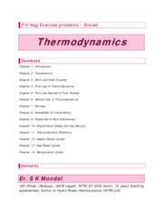 Thermodynamics P K Nag Exercise problems - Solved