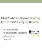 Lecture-Week 12 -Solid Waste Management