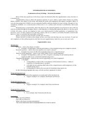 Essay Writing - recommendations on structure formation