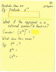 MATH 100 Spring 2013 Exponents Lecture Notes