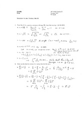 Worksheet 8 Solution on Calculus 2