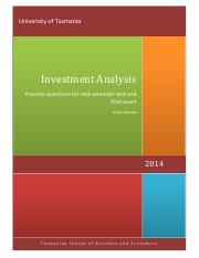 End of chapter questions in Investments 10th edition.pdf