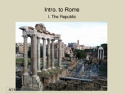 01a Intro Rome - Republic