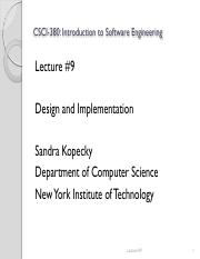 Csci 380 Lecture2 Pdf Csci 380 Introduction To Software Engineering Lecture Note 2 Sandra Kopecky Department Of Computer Science New York Institute Of Course Hero