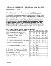 #Chem 162-2008 final exam + answers