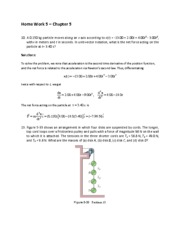 Home Work 5 Solutions