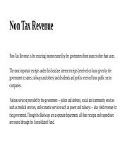 Non Tax Revenue