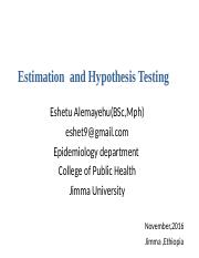 5 estimation and hypothesis
