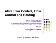 Section 5- Error and Flow Control and Routing