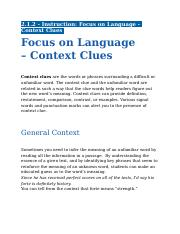 2.1.2 - Instruction - Focus on Language - Context Clues.docx