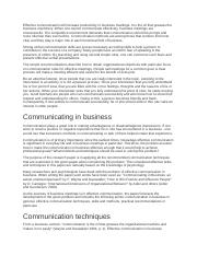 Effective communication will increase productivity in business meetings.docx